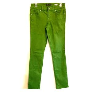 Green level 99 Lily skinny straight leg jeans
